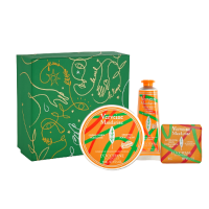 L'Occitane Geschenkset Verbene Mandarine Xmas 20 = Handcreme 30 ml + Schmelzzarte Körpercreme 150 ml + extra-sanfte Seife 50 g