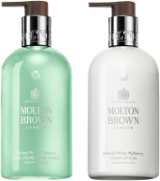 Molton Brown Xmas Mulberry & Thyme Duo Set = Fine Liquid Hand Wash 300 ml  + Hand Lotion 300 ml