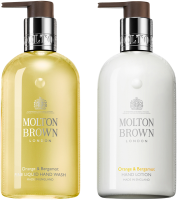 Molton Brown Xmas Orange & Bergamot Hand Duo Set = Fine Liquid Hand Wash 300 ml  + Hand Lotion 300 ml