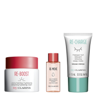 Clarins MyClarins Set 2021 = Re-Boost Refreshing Hydrating Cream 50ml + Re-Move Micellar Cleansing Water 10 ml + Re-Charge Sleeping Mask 15 ml