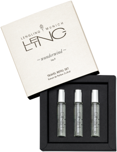 Lengling Munich No 9 Wunderwind Travel Refill = E.d.P. Nat. Spray 3 x 8 ml