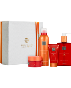 Rituals The Ritual of Happy Buddha Energising Giftset Medium = Fortune Shower Gel 200 ml + Smile Body Scrub 125 g + Body Cream 70 ml + Happy H.H. Wash 300 ml