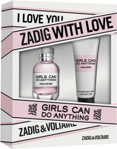 Zadig & Voltaire Girls can do Anything Set = E.d.P. Nat. Spray 30 ml + Body Lotion 75 ml