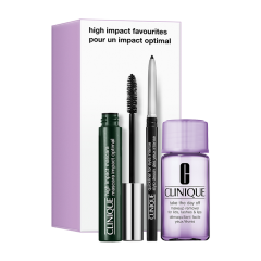 Clinique High Impact Favorites Set = Mascara (Black) 7 ml + Quickliner for Eyes Intense (Int.Chocolate) 0,14 g + Take The Day Off M-Up Remover LL+L 30 ml