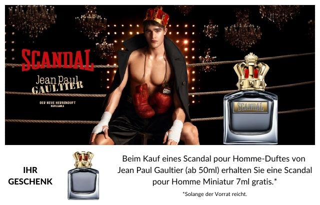 Jean Paul Gaultier Scandal pour Homme - jetzt entdecken & Geschenk sichern!