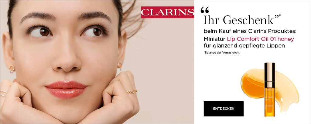 Jetzt Produkte von Clarins entdecken & Geschenk sichern!