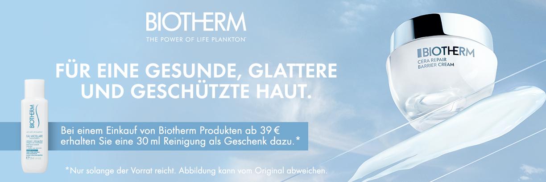 Jetzt Produkte von Biotherm entdecken & Geschenk sichern!