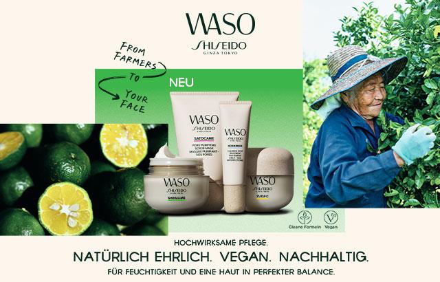 Neu: Vegane Pflege von Shiseido WASO - jetzt entdecken!
